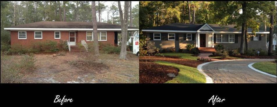 Exterior Before & After - Balding Brothers