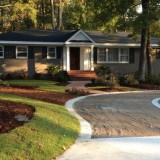 After Picture where you can see some of the new circle driveway