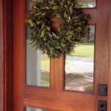 Custom mahogany front door with oil rubbed bronze hardware