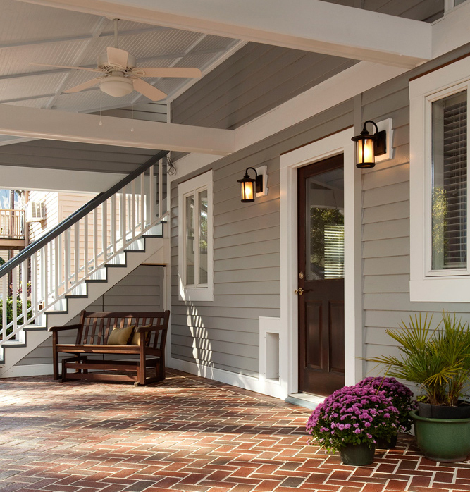 porch garage addition to a historic home balding brothers - Garage Addition