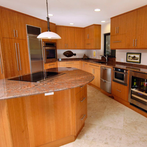 Vertical Grain Cherry Cabinets - Balding Brothers